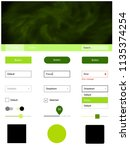 light green  yellow vector ui...