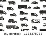 Seamless Pattern With Trucks In ...
