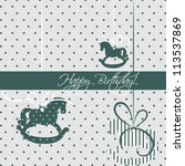 happy birthday card | Shutterstock .eps vector #113537869