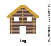 log icon vector isolated on... | Shutterstock .eps vector #1135384460