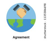 agreement icon vector isolated... | Shutterstock .eps vector #1135386698