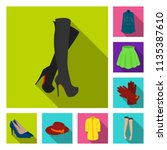 women clothing flat icons in... | Shutterstock .eps vector #1135387610