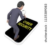 cyber security professional... | Shutterstock . vector #1135389083
