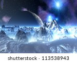 Alien Planet With Mountains ...
