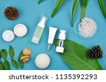 cosmetic bottle containers on... | Shutterstock . vector #1135392293