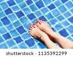 enjoy beautiful girl relaxing... | Shutterstock . vector #1135392299