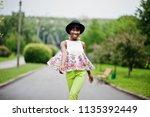 amazing african american model... | Shutterstock . vector #1135392449