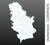 map of serbia. vector... | Shutterstock .eps vector #1135393676