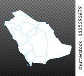 map of saudi arabia. vector... | Shutterstock .eps vector #1135393679