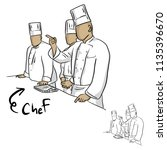 team of chef people in a... | Shutterstock .eps vector #1135396670