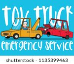 roadside assistance and tow... | Shutterstock .eps vector #1135399463