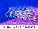 hydrogel ball rotating on blue... | Shutterstock . vector #1135400033