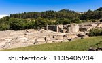 view of the curia of glanum.... | Shutterstock . vector #1135405934