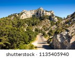 view from glanum to the... | Shutterstock . vector #1135405940