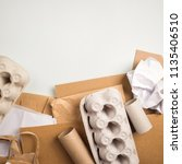 wastepaper  raw materials for... | Shutterstock . vector #1135406510