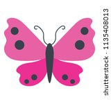a butterfly with total 6 in... | Shutterstock .eps vector #1135408013