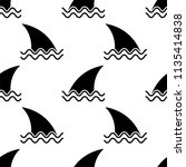 shark fin icon seamless pattern ... | Shutterstock .eps vector #1135414838
