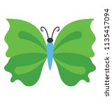 butterfly with wings making a... | Shutterstock .eps vector #1135417094