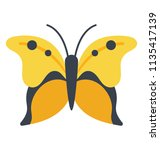 a butterfly making shape of a... | Shutterstock .eps vector #1135417139