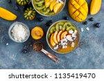 freshly blended fruit smoothie... | Shutterstock . vector #1135419470