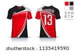 t shirt sport design template... | Shutterstock .eps vector #1135419590
