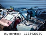 used car doors. repair parts | Shutterstock . vector #1135420190
