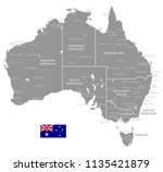 grey vector map of australia... | Shutterstock .eps vector #1135421879