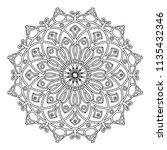 mandala design. vintage... | Shutterstock .eps vector #1135432346
