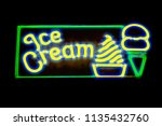 "neon ""ice cream"" sign enhanced... 