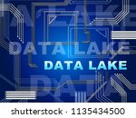data lake digital datacenter... | Shutterstock . vector #1135434500