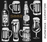 vector set with beer... | Shutterstock .eps vector #1135437200