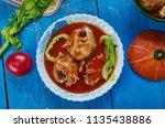 masor tenga  sour fish curry ...   Shutterstock . vector #1135438886