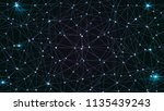 cosmos sci fi background . dots ... | Shutterstock .eps vector #1135439243