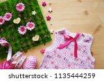 baby girl background    | Shutterstock . vector #1135444259