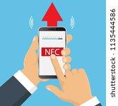 nfc touch payment concept....   Shutterstock .eps vector #1135444586