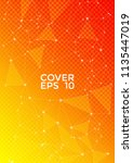 trendy cover page layout.... | Shutterstock .eps vector #1135447019