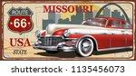 missouri vintage metal sign ... | Shutterstock .eps vector #1135456073