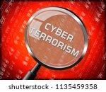 cyber terrorism online...   Shutterstock . vector #1135459358