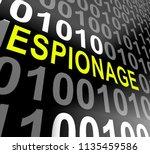 cyber espionage criminal cyber... | Shutterstock . vector #1135459586