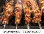 close up of just roasted hot... | Shutterstock . vector #1135460270
