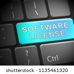 software license certified... | Shutterstock . vector #1135461320