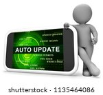 automatic update or upgrade... | Shutterstock . vector #1135464086