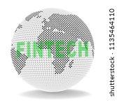 fintech globe worldwide web... | Shutterstock . vector #1135464110