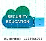 cybersecurity education... | Shutterstock . vector #1135466033