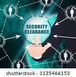 security clearance... | Shutterstock . vector #1135466153