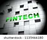 fin tech financial technology... | Shutterstock . vector #1135466180