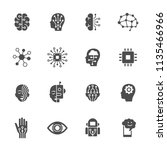 artificial intelligence icons | Shutterstock .eps vector #1135466966