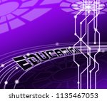 cybersecurity education... | Shutterstock . vector #1135467053