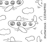 hand drawn seamless pattern of... | Shutterstock .eps vector #1135469903