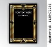 art deco template golden black  ... | Shutterstock .eps vector #1135471286